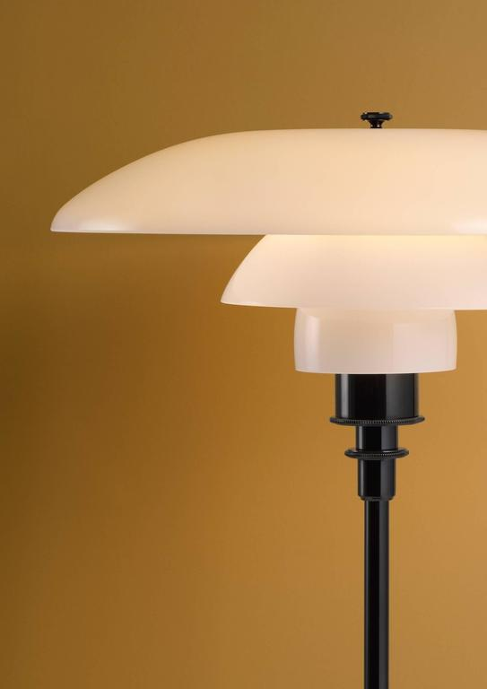 Scandinavian Modern Poul Henningsen Opaline Glass PH 3½-2½ Table Lamp for Louis Poulsen For Sale