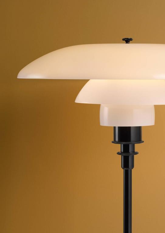 Contemporary Poul Henningsen Opaline Glass PH 3½-2½ Floor Lamp for Louis Poulsen For Sale