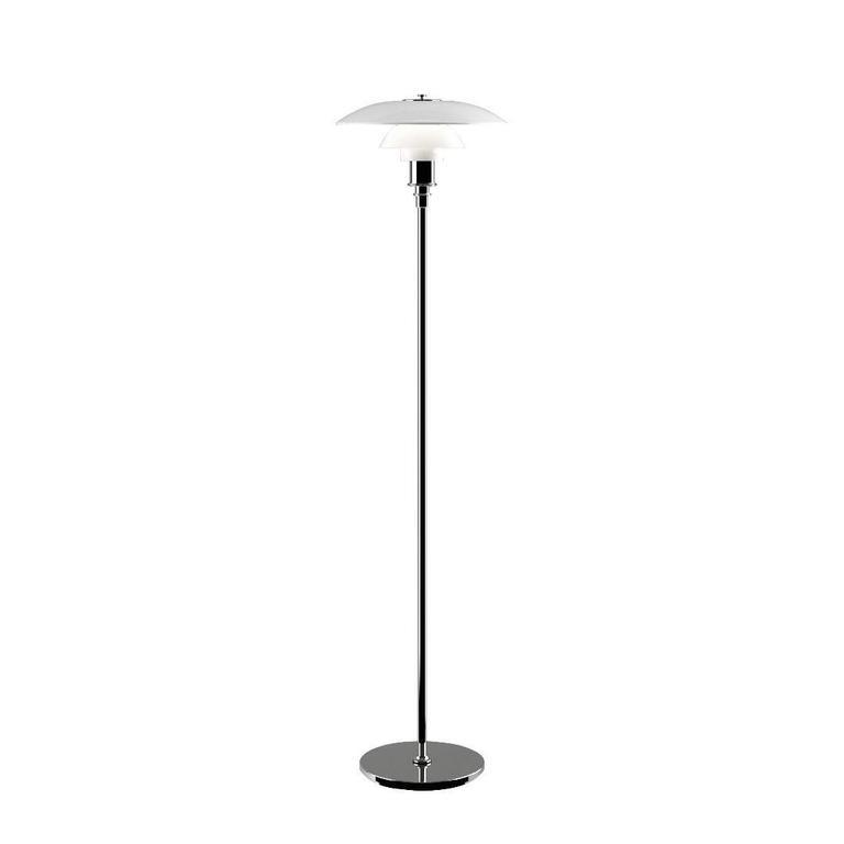 Danish Poul Henningsen Opaline Glass PH 3½-2½ Floor Lamp for Louis Poulsen For Sale