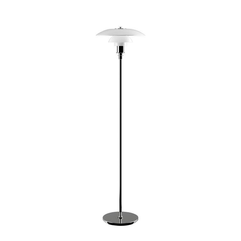 Scandinavian Modern Poul Henningsen Opaline Glass PH 3½-2½ Floor Lamp for Louis Poulsen For Sale