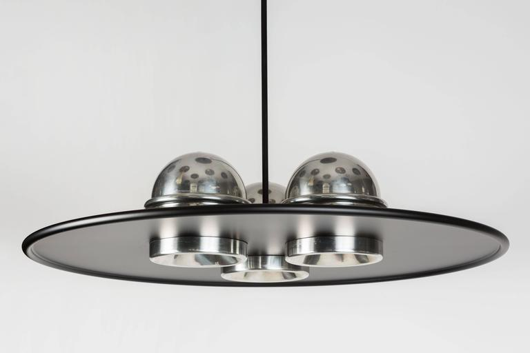 Large Ettore Sottsass 'Lampros 3' Chandelier for Stilnovo, circa 1970 In Good Condition For Sale In Glendale, CA