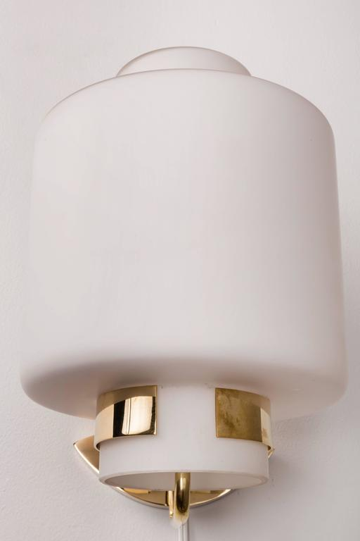 1950s Stilnovo '2120' Brass and Glass Sconces 4