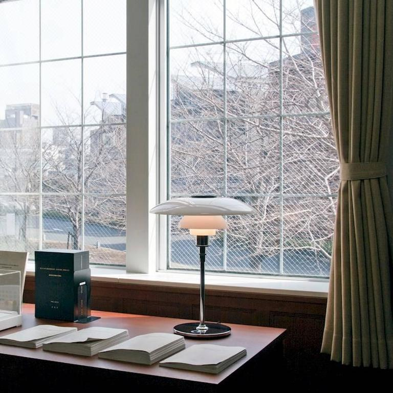 Large Poul Henningsen PH 4½-3½ Glass Table Lamp for Louis Poulsen In New Condition For Sale In Glendale, CA