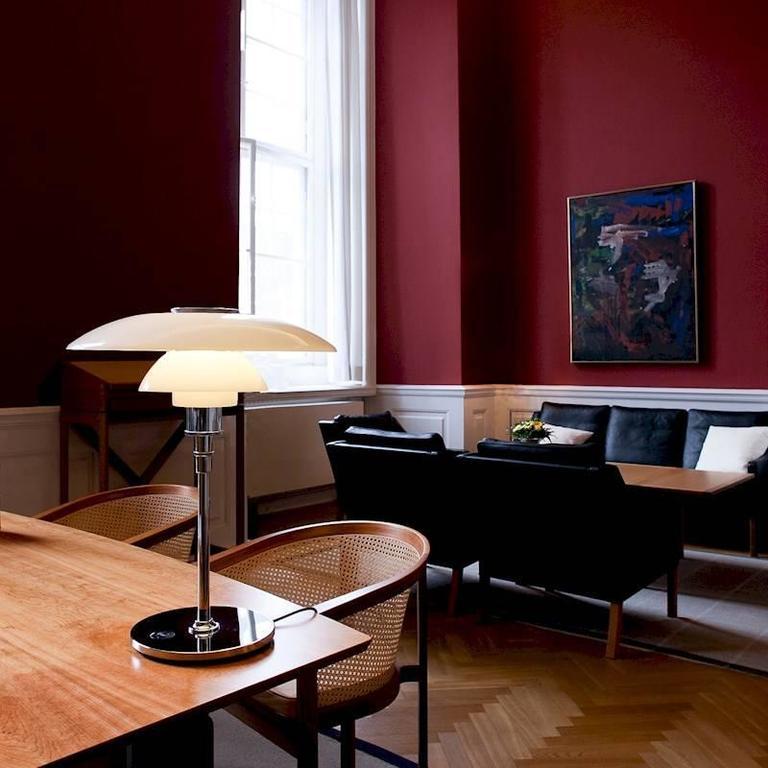 Scandinavian Modern Large Poul Henningsen PH 4½-3½ Glass Table Lamp for Louis Poulsen For Sale