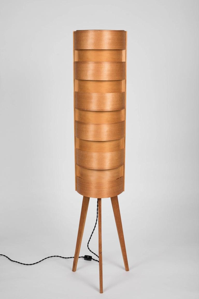 1960s Hans Agne Jakobsson Wood Tripod Floor Lamp For Ab