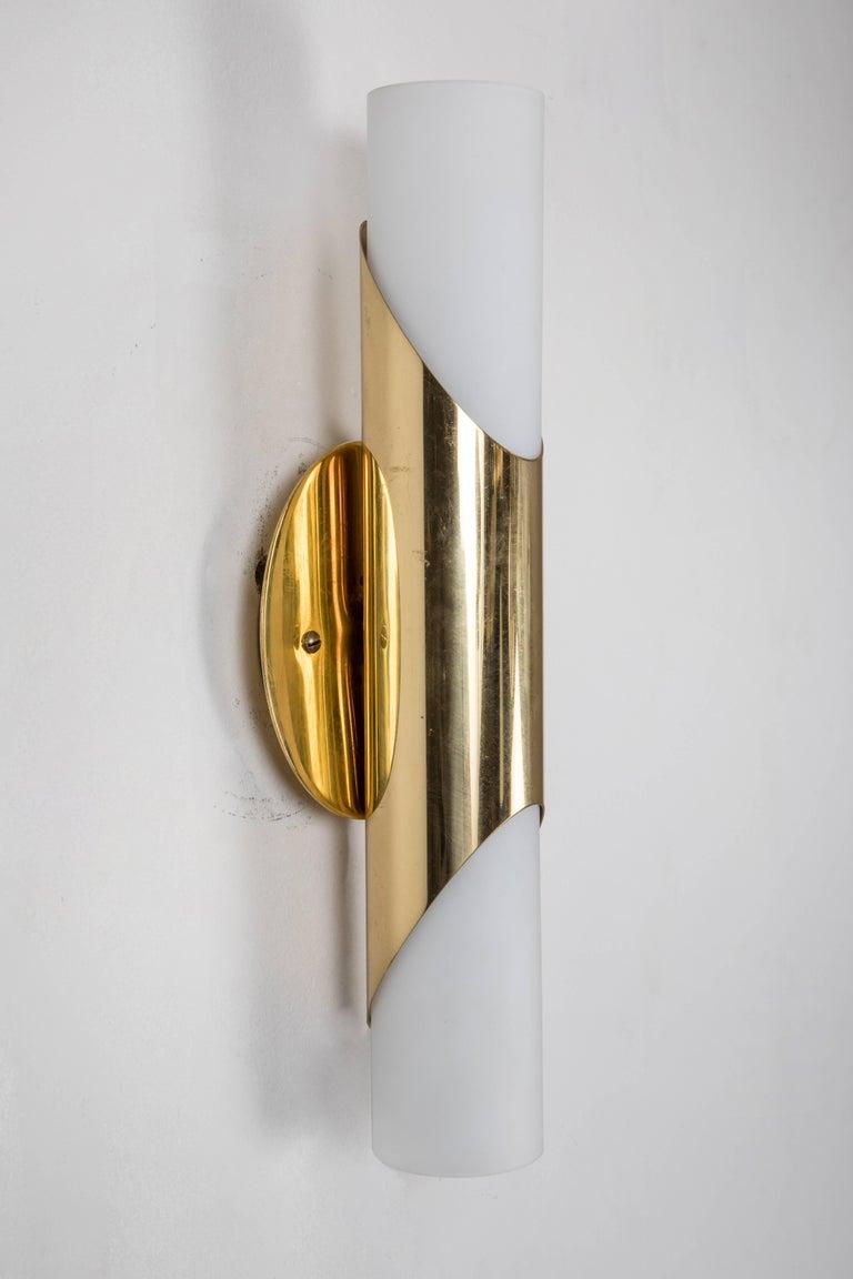 1960s neuhaus leuchten glass and brass sconces at 1stdibs. Black Bedroom Furniture Sets. Home Design Ideas