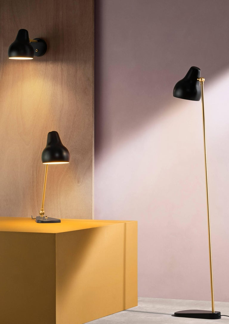Scandinavian Modern Vilhelm Lauritzen Black 'Radiohus' Table Lamps for Louis Poulsen For Sale