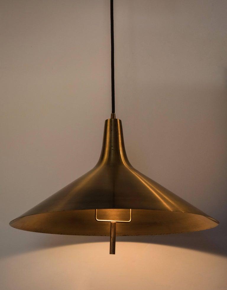 Danish 1960s Brass Pendant for Lyfa, Denmark For Sale