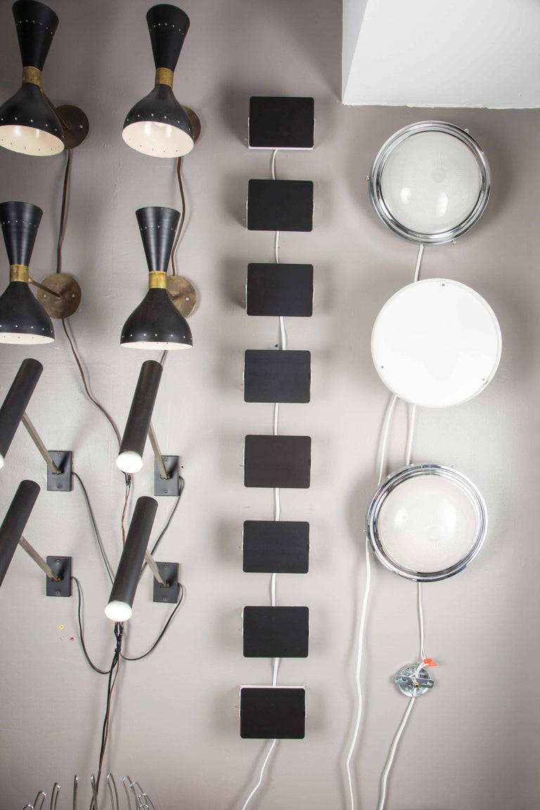 Mid-Century Modern Charlotte Perriand Black and White 'CP1' Wall Lights For Sale