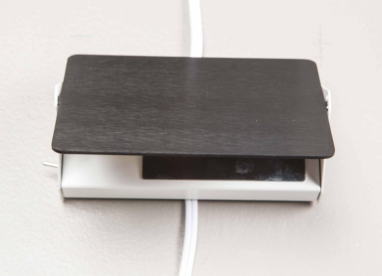 Contemporary Charlotte Perriand Black and White 'CP1' Wall Lights For Sale