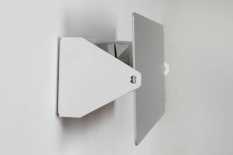 Painted Large Charlotte Perriand 'CP1' Brushed Aluminium Wall Lights For Sale