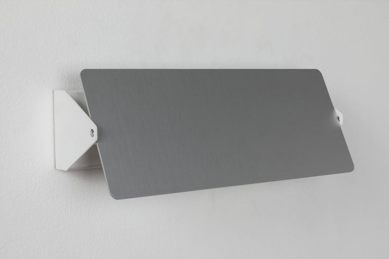 Large Charlotte Perriand 'CP1' Brushed Aluminium Wall Lights In Excellent Condition For Sale In Glendale, CA