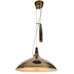Paavo Tynell Brass Counterweight Chandelier for Taito Oy