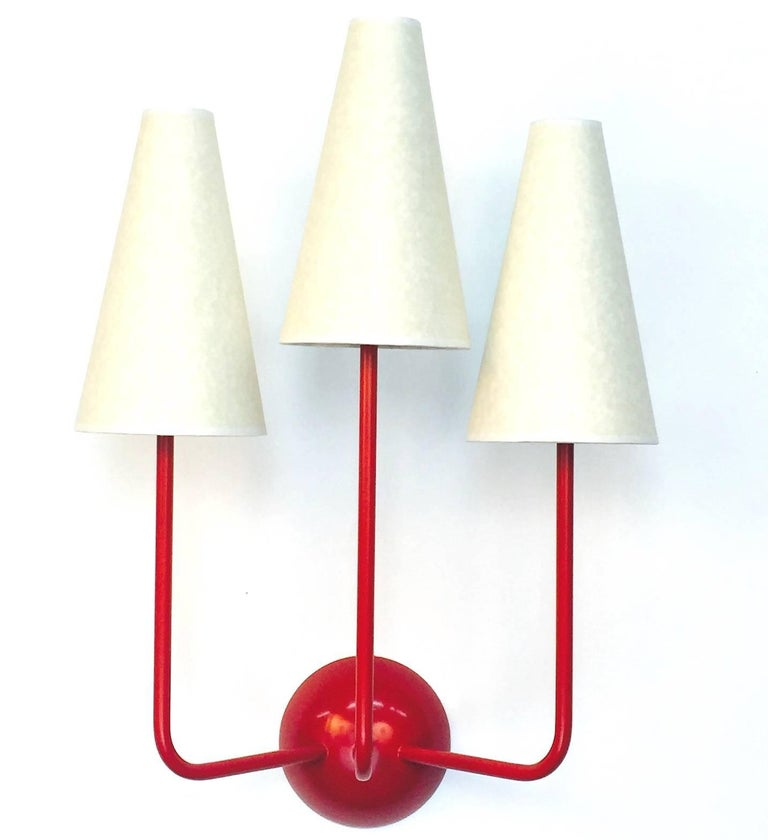 Two-Arm Black Wall Lamp in the Style of Jean Royère 3