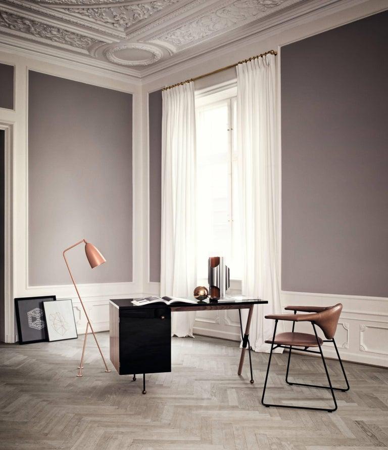 Powder-Coated Greta Magnusson Grossman 'Grasshopper' Floor Lamp in Black For Sale