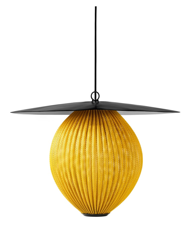 Large Mathieu Matégot 'Satellite' Pendant in Black and Grey Metal For Sale 3