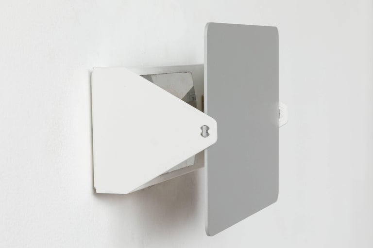 Anodized Charlotte Perriand 'Applique à Volet Pivotant' Wall Light in Natural Aluminum For Sale