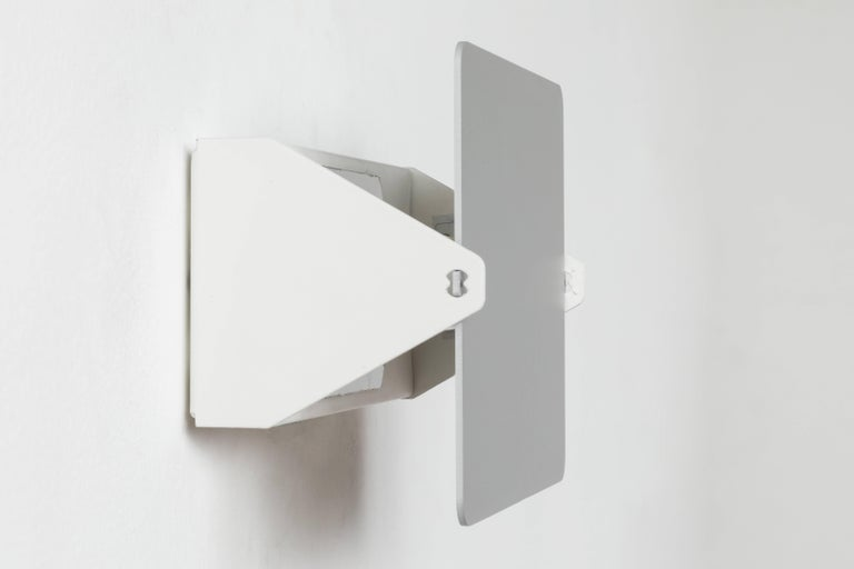 Metal Charlotte Perriand 'Applique à Volet Pivotant' Wall Light in Natural Aluminum For Sale