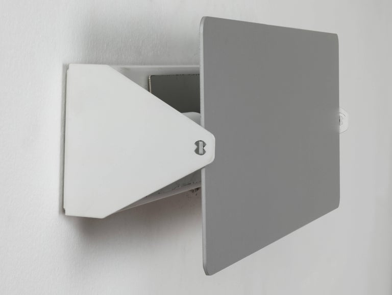 French Charlotte Perriand CP1 Brushed Aluminum Wall Lights For Sale