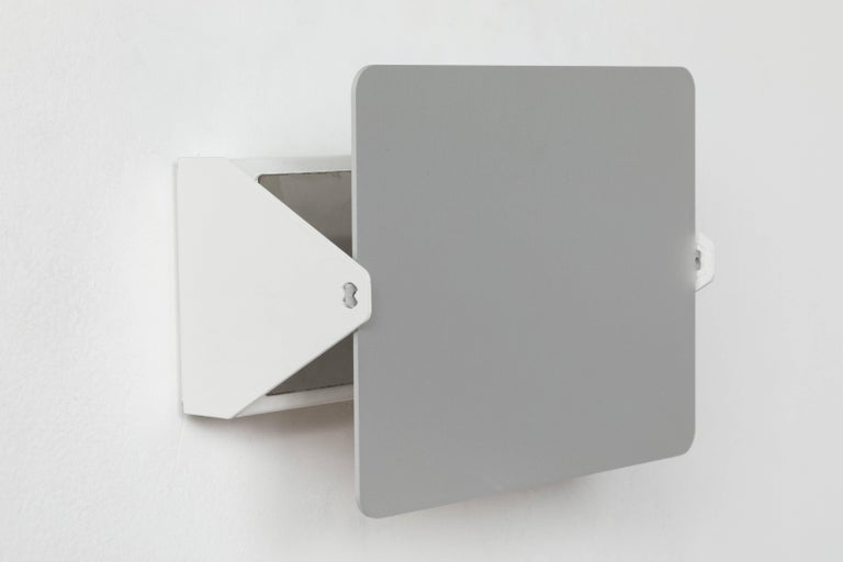 Painted Charlotte Perriand CP1 Brushed Aluminum Wall Lights For Sale