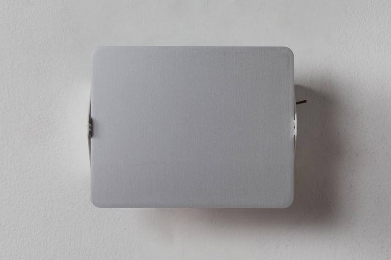 Metal Charlotte Perriand CP1 Brushed Aluminum Wall Lights For Sale
