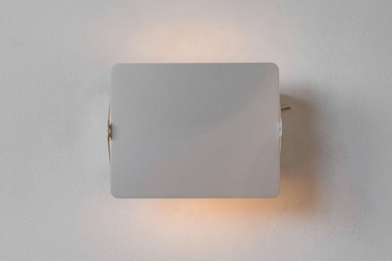 Charlotte Perriand CP1 Brushed Aluminum Wall Lights For Sale 1