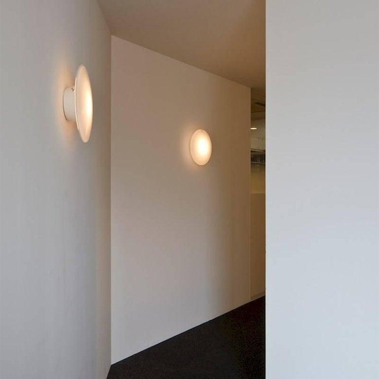 Powder-Coated Small Arne Jacobsen 'Eklipta' Wall or Ceiling Light for Louis Poulsen For Sale