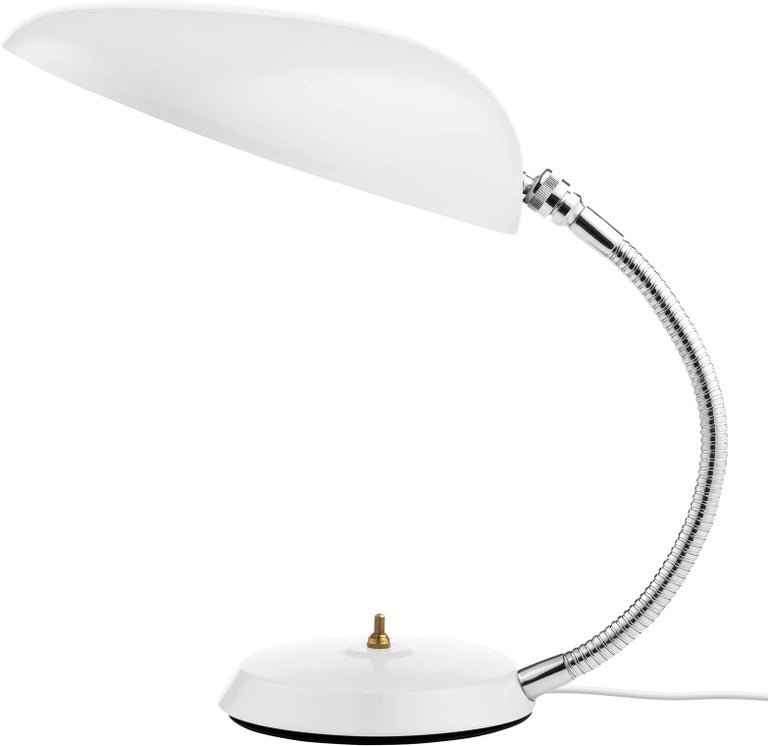 Powder-Coated Greta Magnusson Grossman 'Cobra' Table Lamp in Black For Sale