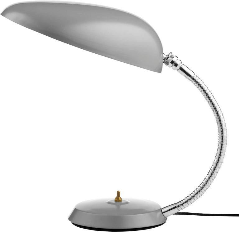 Steel Greta Magnusson Grossman 'Cobra' Table Lamp in Black For Sale