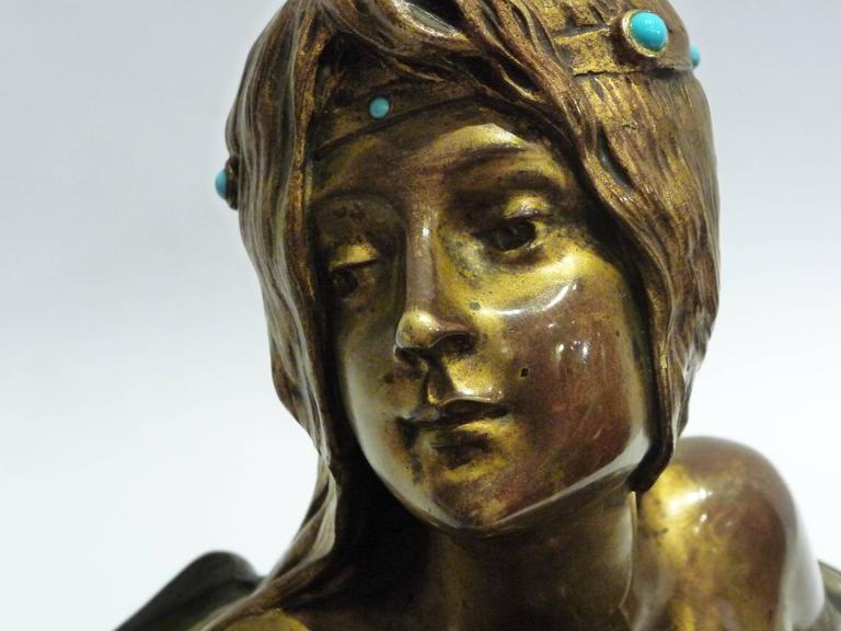 Georges Flamand, an Art Nouveau Gilt Bronze Vide-Poche, Signed 2