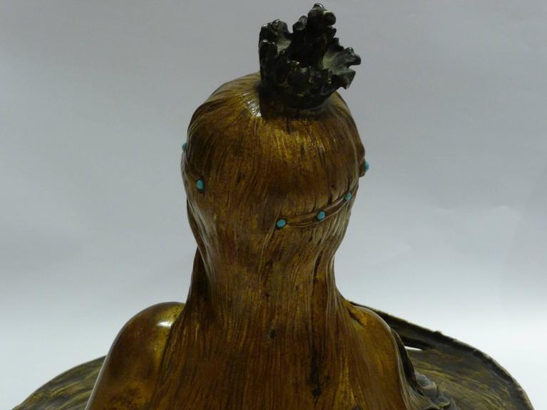 Georges Flamand, an Art Nouveau Gilt Bronze Vide-Poche, Signed 5