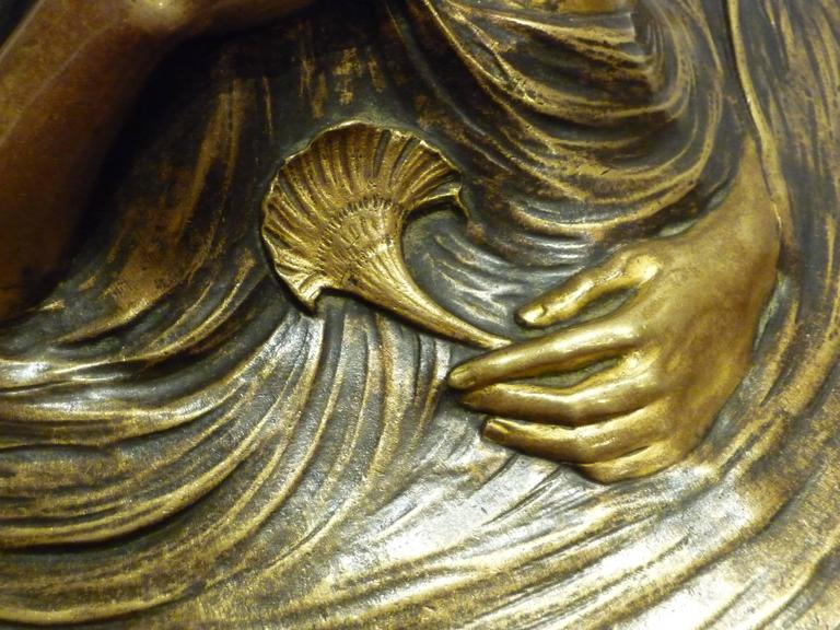 Georges Flamand, an Art Nouveau Gilt Bronze Vide-Poche, Signed 6