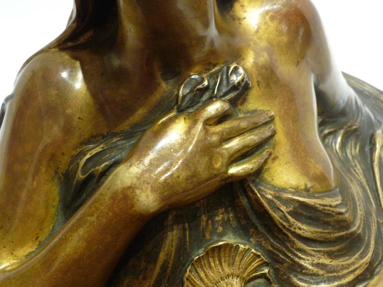 Georges Flamand, an Art Nouveau Gilt Bronze Vide-Poche, Signed 7