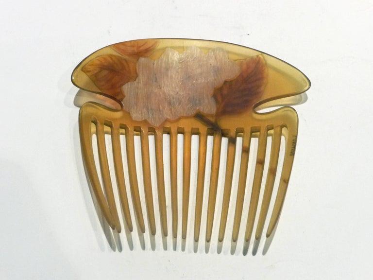Lucien Gaillard, a Rare and Magnificient Art Nouveau Comb, Signed 5