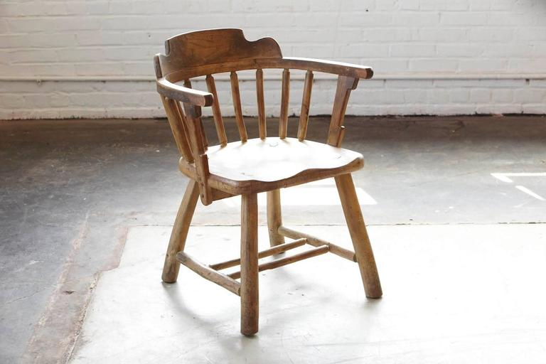 Country Antique Oak Barrel Chair For Sale - Antique Oak Barrel Chair For Sale At 1stdibs