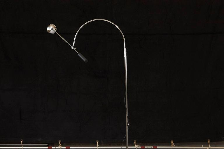 "Original chrome floor lamp ""Orbiter"" by Robert Sonneman, circa 1960s. 