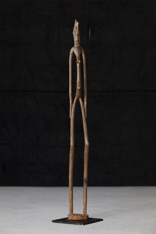 Carved African Wood Sculpture of a Woman 2