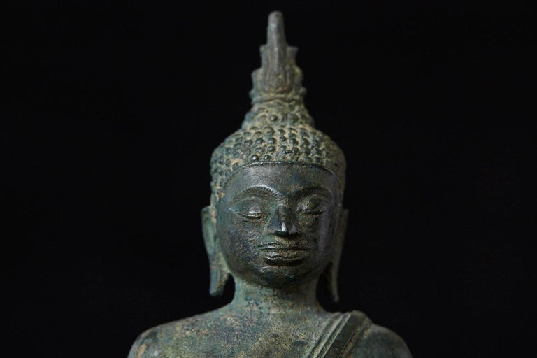 Possibly 15th-16th Century Bronze Thai Buddha Statue For Sale 4