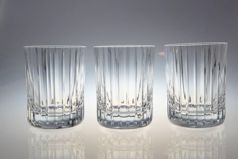 Set of Six Baccarat Harmonie #3 Single Old Fashion Crystal Tumblers In Excellent Condition For Sale In Westport, CT