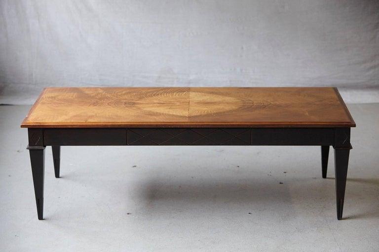 Veneer Schmieg & Kotzian Mahogany Coffee Table For Sale