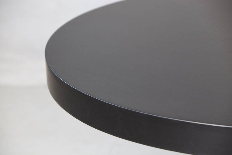 Modern Puristic Oak Center Table in New Black Finish, 1960s In Excellent Condition For Sale In Westport, CT