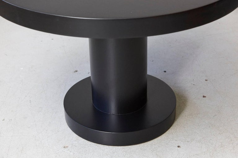 Modern Puristic Oak Center Table in New Black Finish, 1960s For Sale 2
