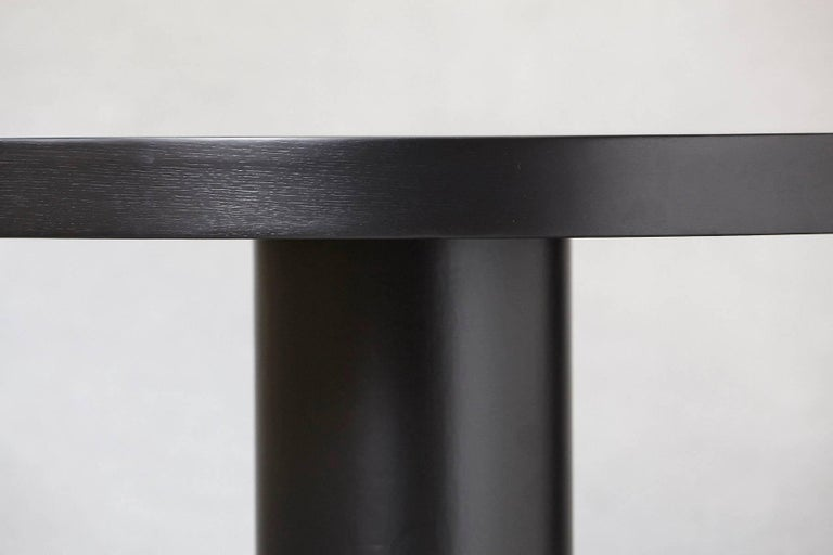 Mid-20th Century Modern Puristic Oak Center Table in New Black Finish, 1960s For Sale