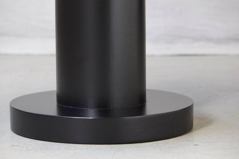 Modern Puristic Oak Center Table in New Black Finish, 1960s For Sale 3
