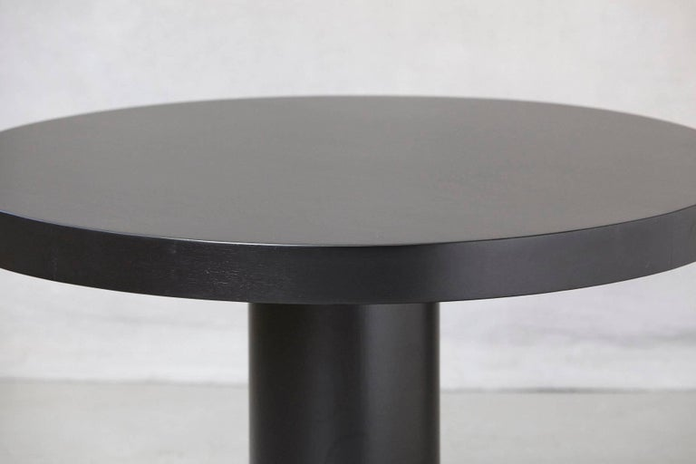 Modern Puristic Oak Center Table in New Black Finish, 1960s For Sale 1