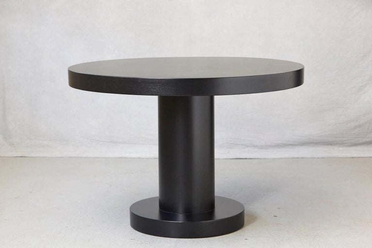 Mid-Century Modern Modern Puristic Oak Center Table in New Black Finish, 1960s For Sale