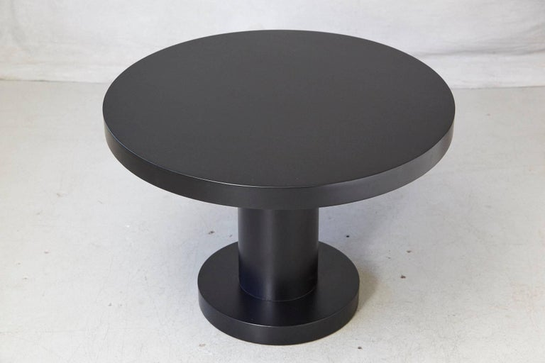 American Modern Puristic Oak Center Table in New Black Finish, 1960s For Sale