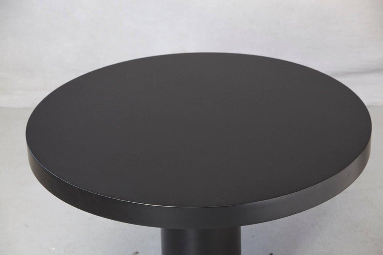 Lacquered Modern Puristic Oak Center Table in New Black Finish, 1960s For Sale