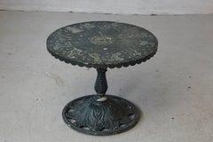 Rare Molla Dark Green Cast Aluminum Zodiac Garden Side Table