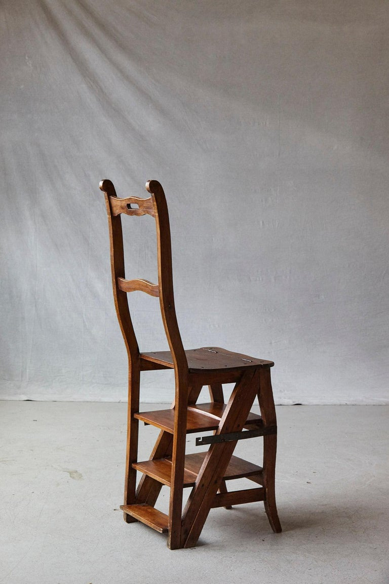 19th Century French Metamorphic Library Chair, circa 1840 For Sale 1
